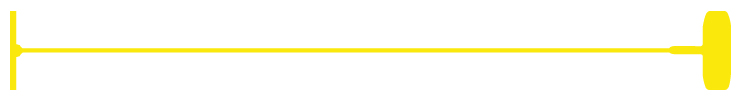 "3"" Yellow Standard Fasteners - 5000 Count"
