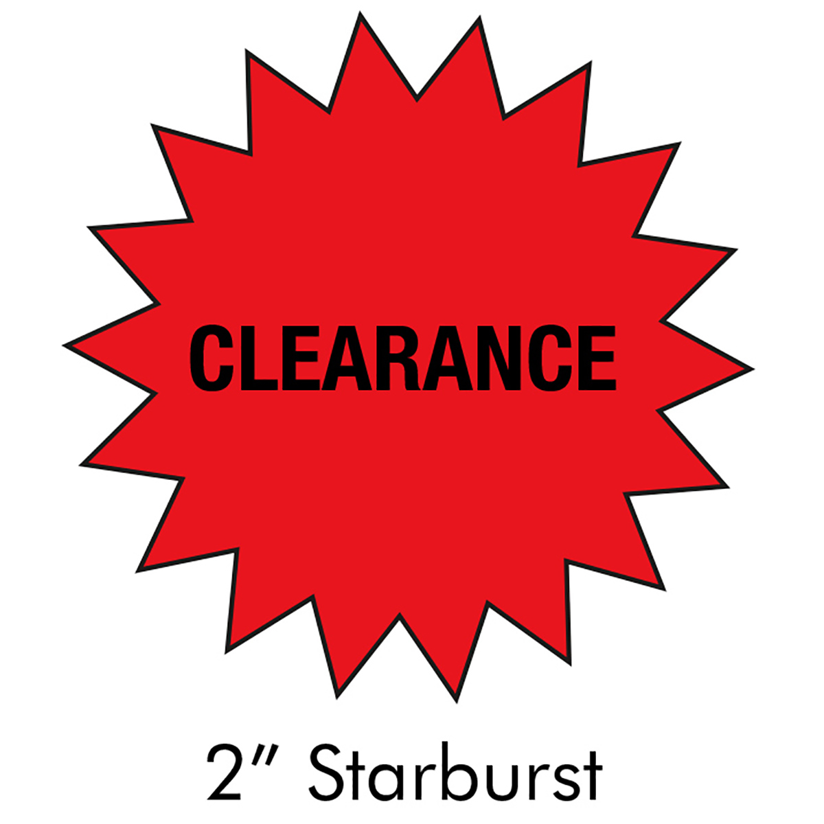 "2"" Starburst Clearance Label - LMCCTL110905C"