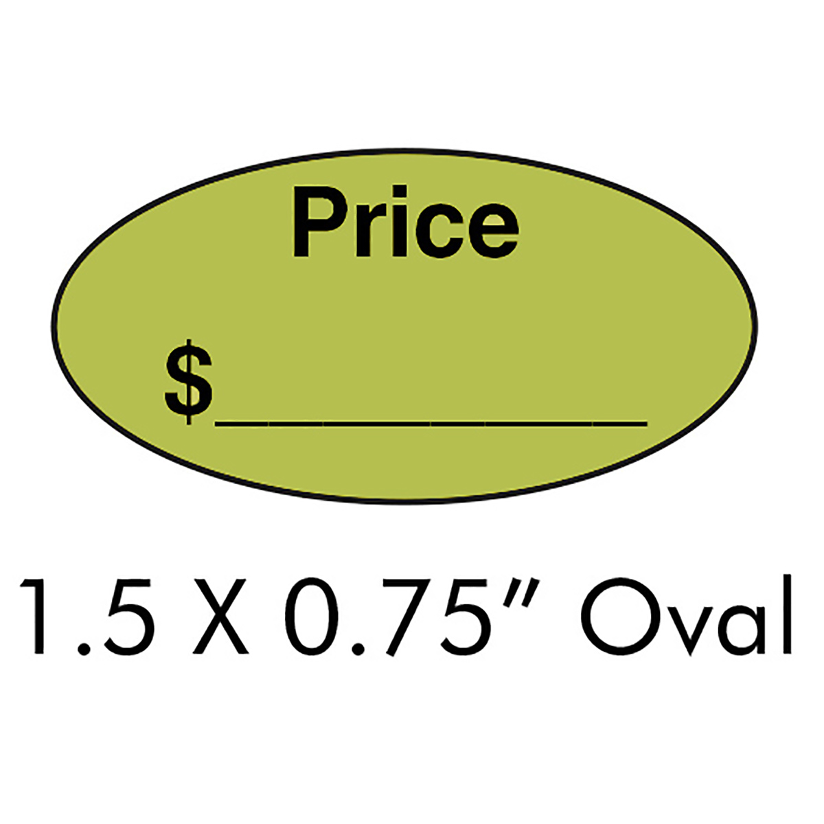 "1.5"" x .75"" Oval Price Label - LMCCTL1342AG"