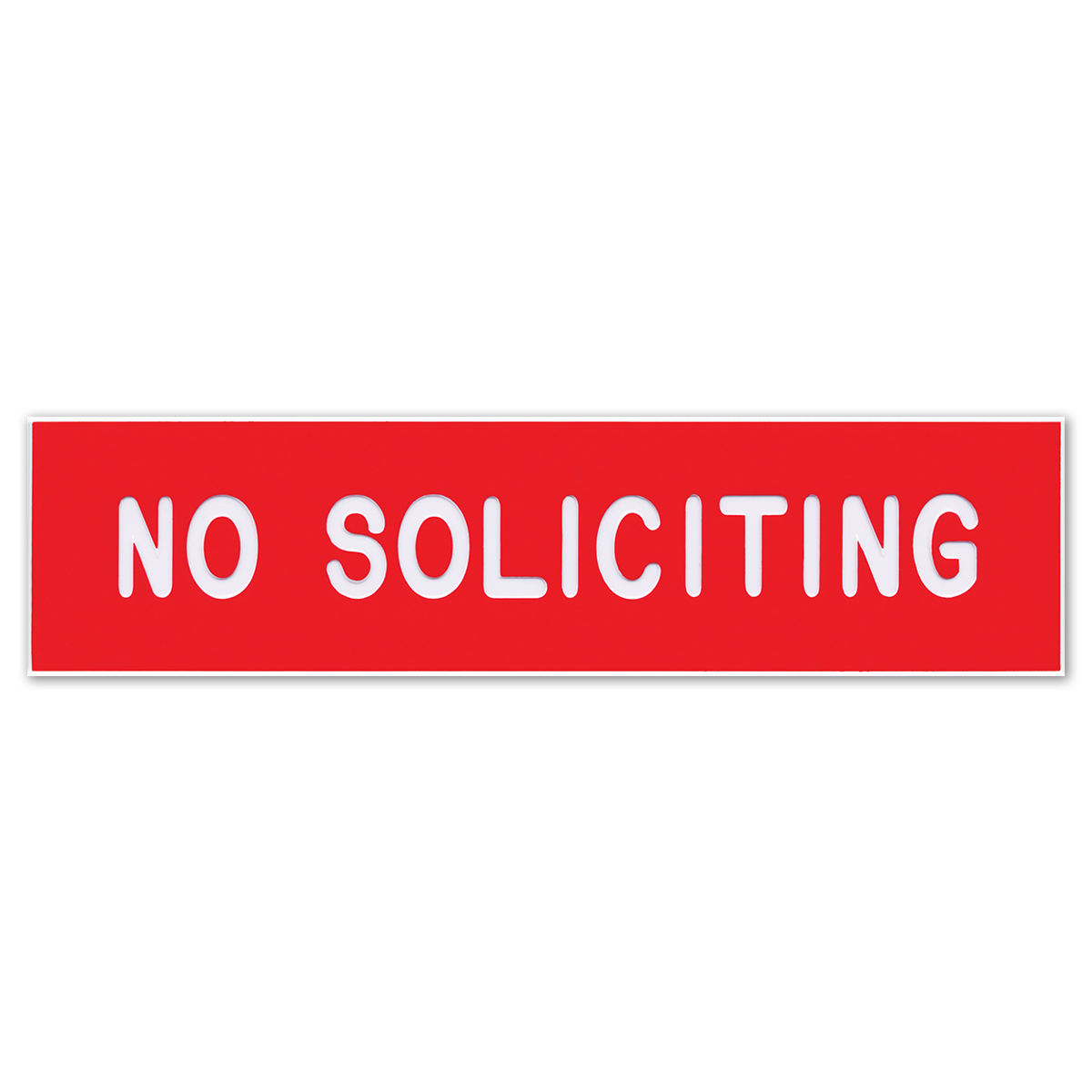 NO SOLICITING - Plastic Sign - 098001