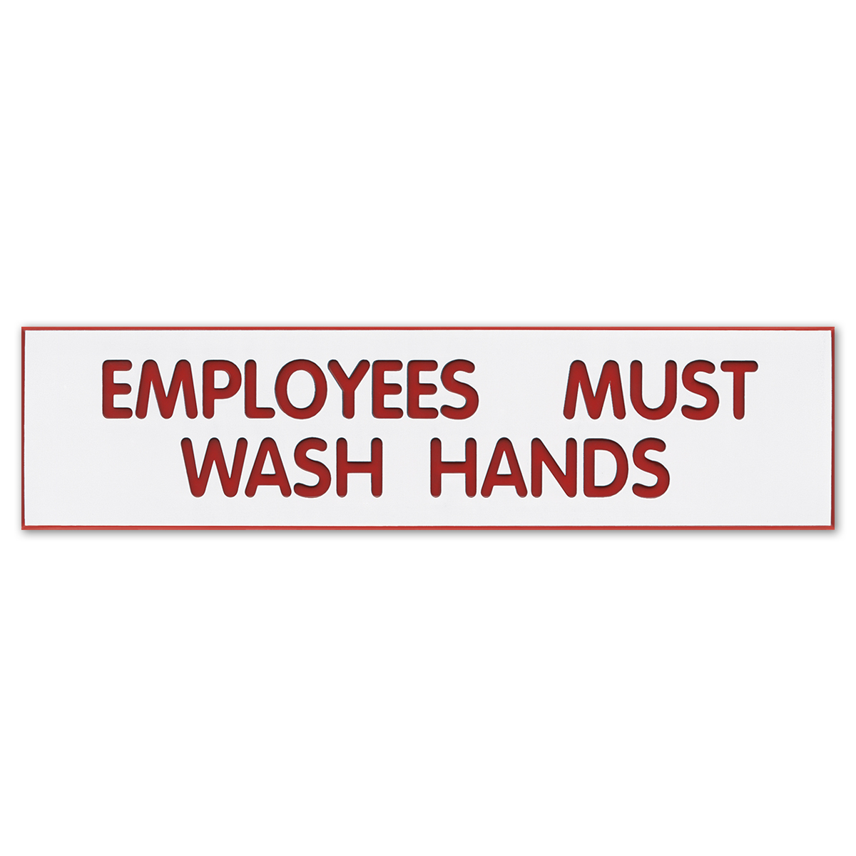 EMPLOYEES MUST WASH HANDS - Plastic Sign - 098002