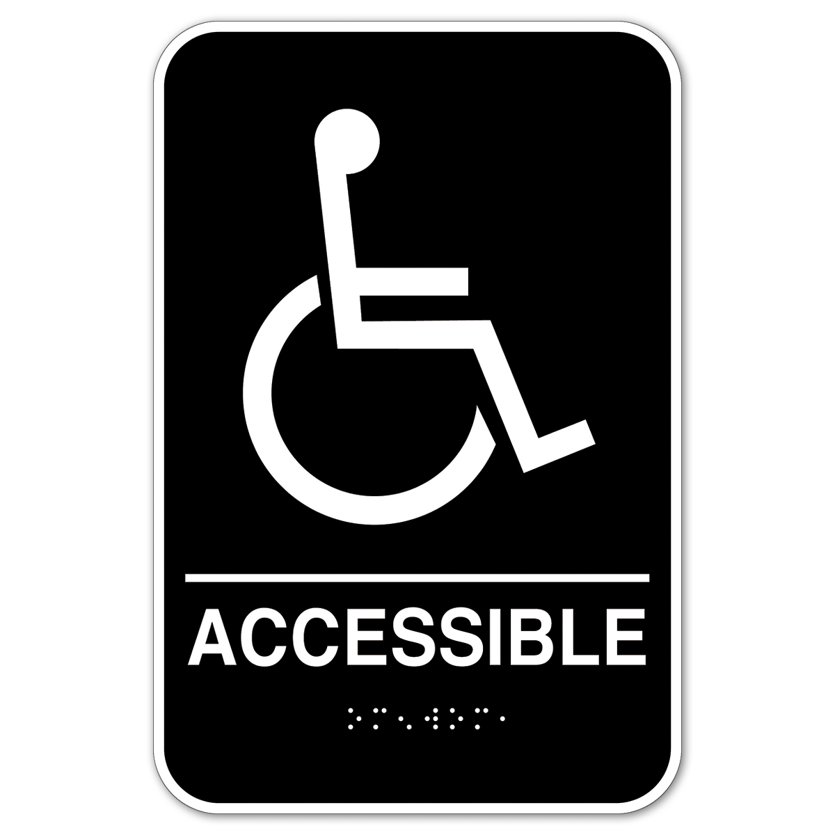 Wheelchair ACCESSIBLE|Braille - 098094A