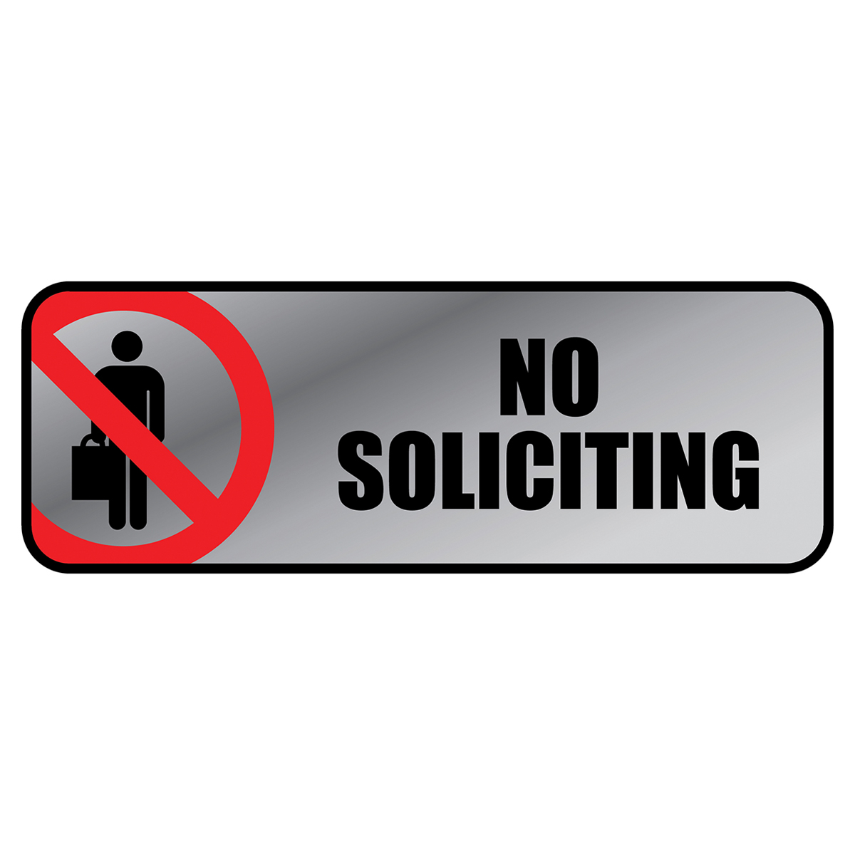 NO SOLICITING - Metal Sign - 098208