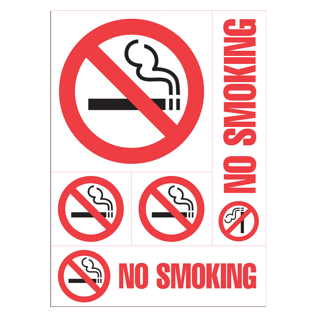 NO SMOKING - Decal Combo - 098267