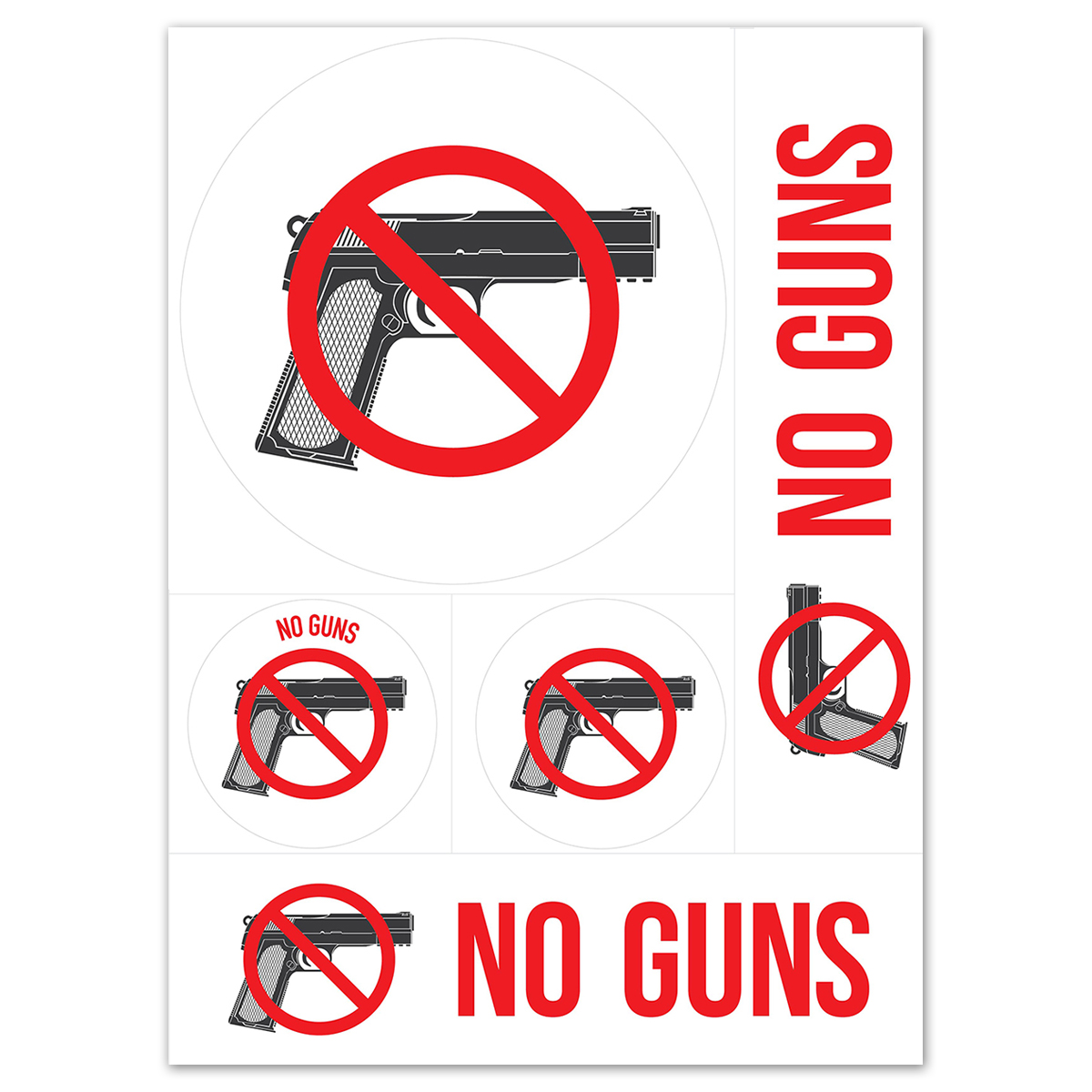 NO GUNS - Decal Combo Pack - 098378