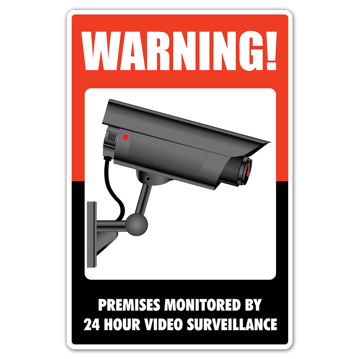 WARNING! Surveillance - Plastic Sign - 098381