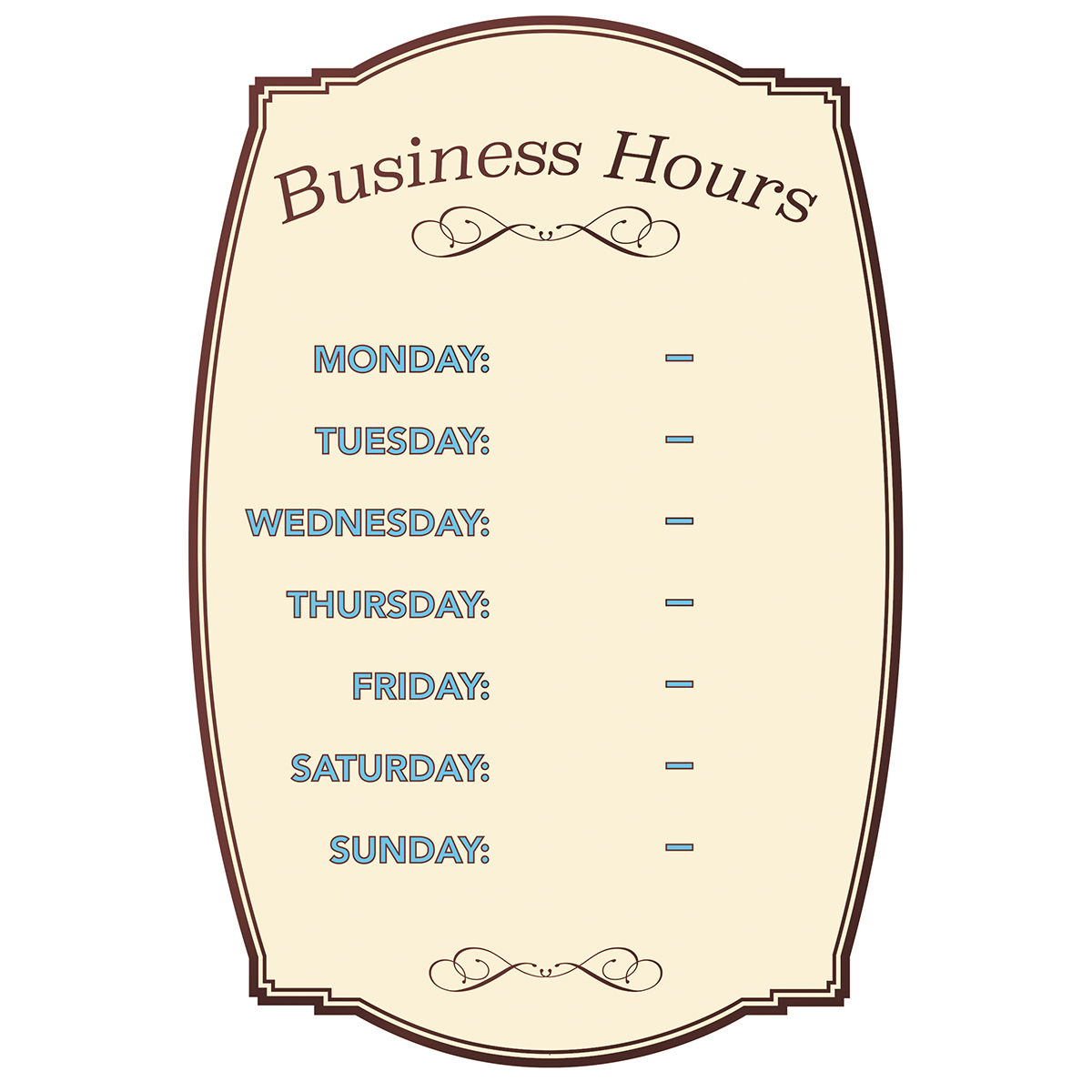Business Hours - Boutique Style